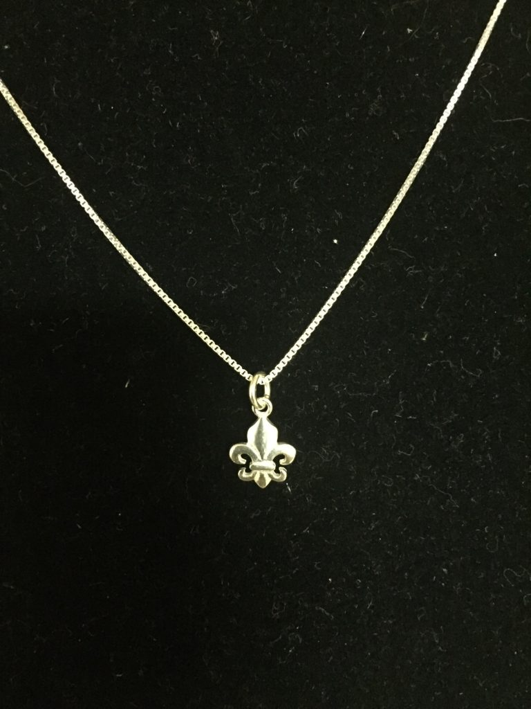 Childrens small fleur de lis pendant necklace aloadofball Image collections